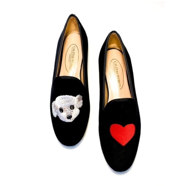 LOAFER TERCIOPELO NEGRO DOGGY